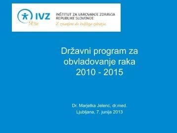Državni program za obvladovanje raka - IVZ RS