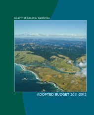 Fiscal Year 2011-2012 Adopted Budget - County of Sonoma