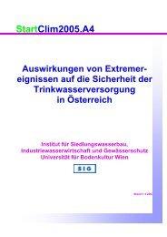 Auswirkung von Extremereignissen auf die Wasserversorgung