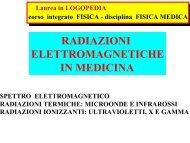 RADIAZIONI ELETTROMAGNETICHE IN MEDICINA - INFN