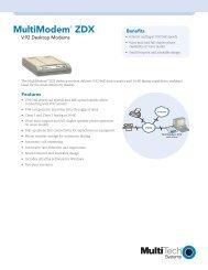 MultiModem® ZDX Datasheet: V.92 Desktop Modems