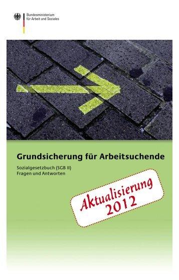 Grundsicherung für Arbeitsuchende – Aktualisierung 2012