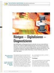 Röntgen – Digitalisieren – Diagnostizieren - Zahnheilkunde.de