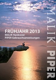 MALIK I Piper Gebrauchsanweisungen Frühjahr 2013