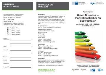 Green Business - Wirtschaftsförderung Kreis Soest