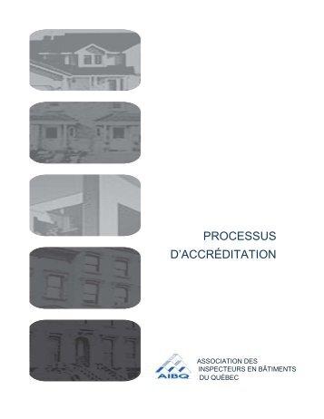 processus d'accréditation - Association des inspecteurs en bâtiments