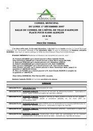 CONSEIL MUNICIPAL DU LUNDI 17 DÉCEMBRE 2007 ... - Alençon