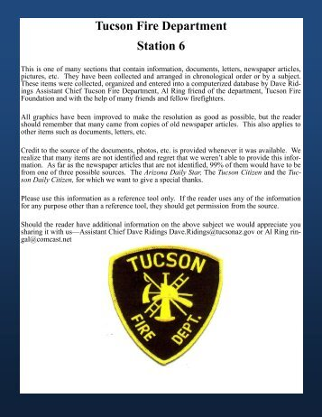 Tucson Fire Department Station 6 - Greater Tucson Fire Foundation