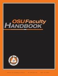 OSU Faculty handbook - College of Human Sciences - Oklahoma ...