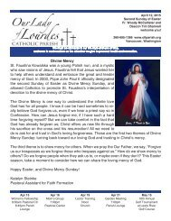 Faith Opportunities Upcoming Events Youth ... - Catholic Printery
