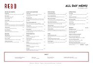 View the Rebo All Day Menu - SKYCITY Auckland