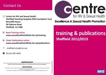 Sexual health sheffield publications