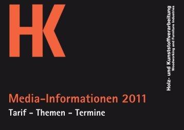 Mediadaten HK 2011.qxd - Holz-Zentralblatt
