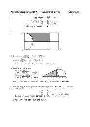 Mathematik MS Teil 2 2007 - Lösung - SchulArena.com