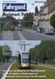 Mariatrost: Park & Ride ohne Straßenbahnanschluss geplant