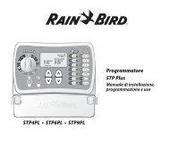 Programmatore STP Plus STP4PL • STP6PL • STP9PL - Rain Bird