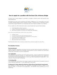 How to apply for a position with the Rural City of Murray Bridge