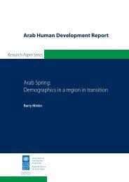 Arab Spring: Demographics in a region in transition - Arab Human ...