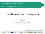 Defining social issues in the context of forest management