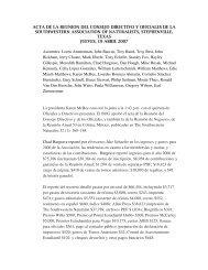 Reunión del Consejo Directivo - Oklahoma Biological Survey