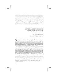 citizen attitudes and political behavior - School of Social Sciences ...
