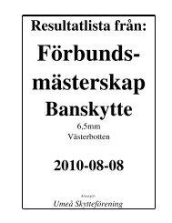 Resultat på PDF-fil - Västerbottens Skytte