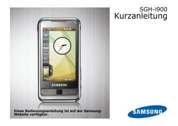 Samsung-I900-Kurzanleitung.pdf herunterladen - Fonmarkt.de
