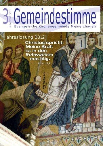 Gemeindestimme Nr. 03 2011 - Evangelische Kirchengemeinde ...