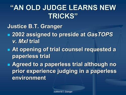 Justice BT Granger - Slaw