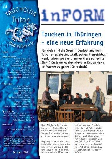 Tauchen in Thüringen - eine neue Erfahrung - Tauchclub Triton ...