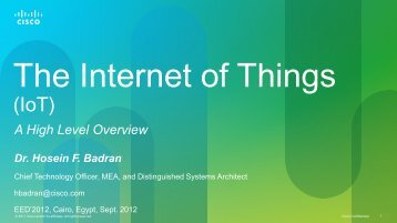 Internet of Things (IoT) - By Hosein Badran