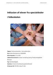 Inklusion af elever fra specialskoler i folkeskolen