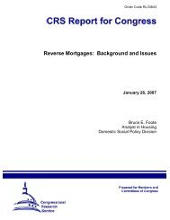 Reverse Mortgages: Background and Issues - PolicyArchive