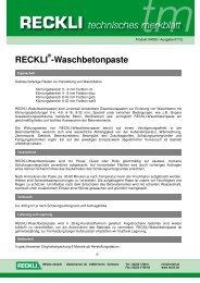 04009 Waschbetonpaste - RECKLI GmbH: Home