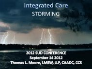 Integrated Care: From Forming to Storming - MI-PTE