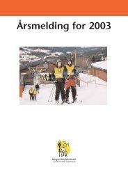 Årsmelding for 2003 - Norges Blindeforbund