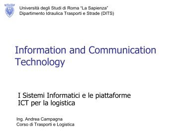Information and Communication Technology - CTL - Sapienza