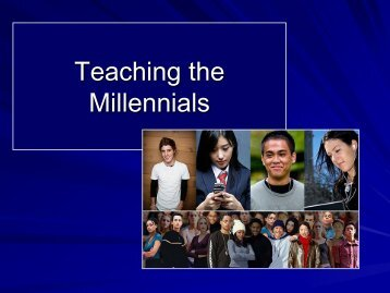 Teaching the Millennials
