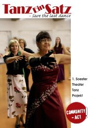 Save the last dance - SEN eV - Soester Entwicklungsnetz