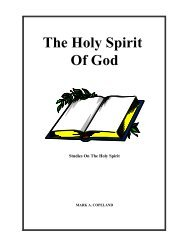 The Holy Spirit Of God - Executable Outlines