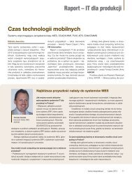 IT dla produkcji 2012 - Czas technologii mobilnych w ... - MSI Polska