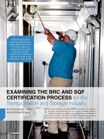 EXAMINING THE BRC AND SQF CERTIFICATION PROCESS for ...