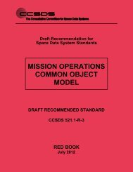 CCSDS 521.1-R-3, Mission Operations Common Object Model (Red ...