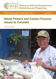 Waste Pickers and Carbon Finance: Issues to Consider - WIEGO