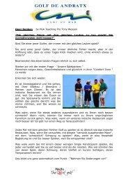 Quer Denken by PGA Teaching Pro Tony Wesson ... - Golf de Andratx