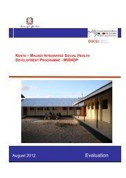 Evaluation - Cooperazione Italiana allo Sviluppo