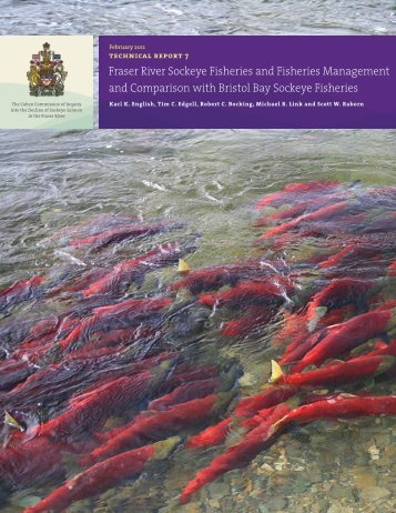Fraser River Sockeye Fisheries and Fisheries Management - Cohen ...