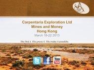 Mines and Money Presentation 18 March 2013.pdf - Carpentaria ...