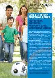 Nutrition, Physical Activity and NCD Prevention - NCD Alliance