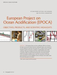 european project on Ocean Acidification (epOcA) - Climate and ...